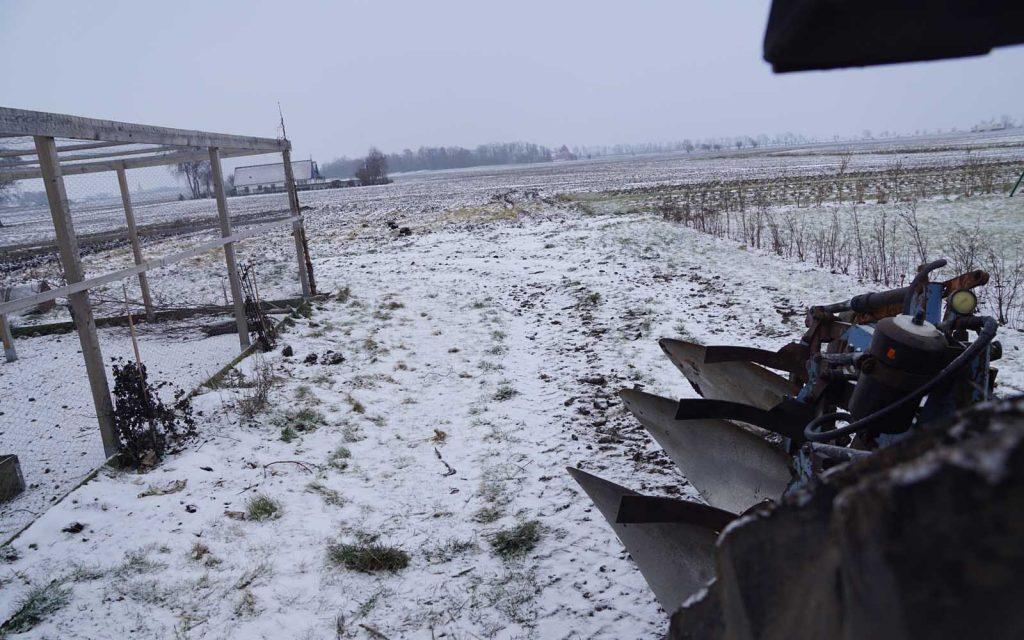 Plöjning i vinterskrud